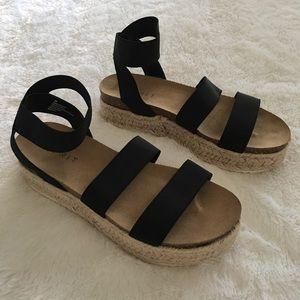 NEW Esprit Gigi Espadrille Platform Slide Sandal